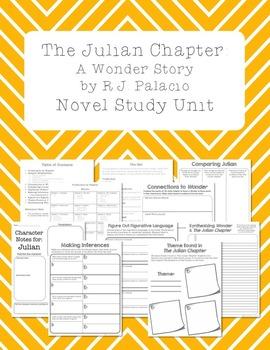 The Julian Chapter: A Wonder Story by RJ Palacio Novel Study Unit