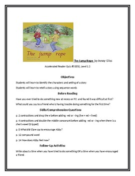 The Jump Rope for Guided Reading