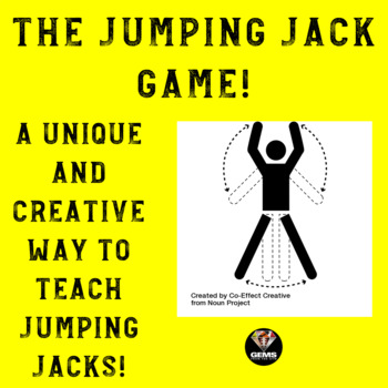 Jumping Jack Physical Education Game!  A Creative Way to Teach Jumping Jacks