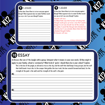 The Jungle Book Movie Guide | Questions | Worksheet (PG - 2016)