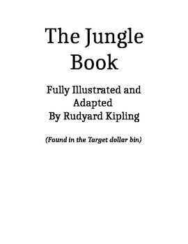 The Jungle Book (adapted version found in Target $1 Bin) Guided Reading