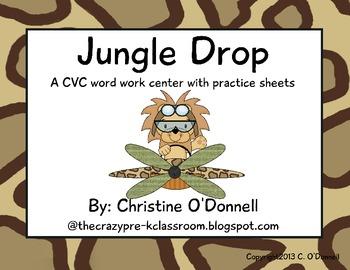 The Jungle Drop: CVC literacy center, word work + more!