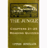 The Jungle by Upton Sinclair Chapters 21-25 Reading Quizzes Canvas/Schoology