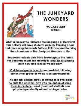 The Junkyard Wonders Vocabulary Bingo