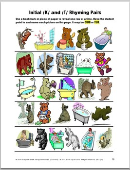 /K/ and /G/  4 Book Series - Initial and Final K and G Sounds