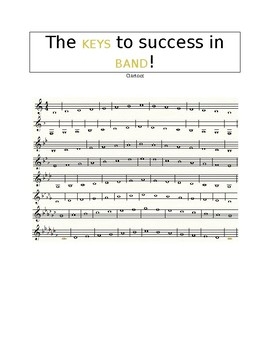 The KEYS to Success - Clarinet Performance Scale Sheet