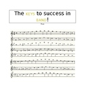 The KEYS to Success - Flute Performance Scale Sheet
