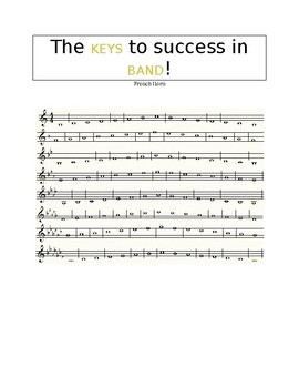 The KEYS to Success - French Horn Performance Scale Sheet