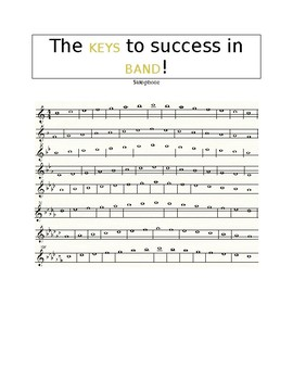 The KEYS to Success - Saxophone Performance Scale Sheet