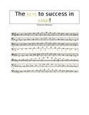 The KEYS to Success - Trombone/Baritone Performance Scale Sheet