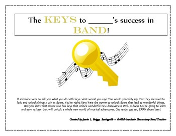 """Key Signatures and Scales - """"The KEYS to Success"""" - Flute Workbook"""