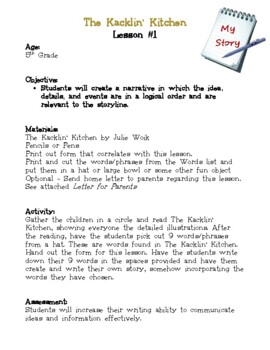 The Kacklin' Kitchen Classic Classroom Lesson Plans: 5th GRADE EDITION