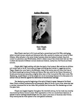The Kate Chopin BUNDLE -- Teaching Metaphors, Setting, Annotations, Irony