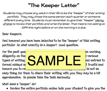 The Keeper Letter