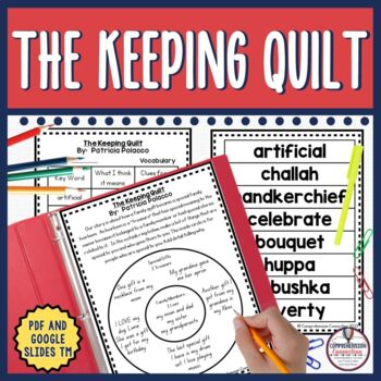 This Keeping Quilt book companion includes DIGITAL and PDF options. This is a beautiful story of Patricia's ancestry. The bundle includes before, during, and after activities to accompany the book, a Patricia Polacco research lapbook, and writing extensions.   Skills addressed through this unit includes a schema building,vocabulary, story impressions, cause and effect relationships, question task cards and response form for group discussion, an 11-page lapbook, a class book on family traditions and a researching Ellis Island form. (in Full Color Digital and Black/White PDF)