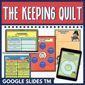 The Keeping Quilt Activities | Distance Learning Digital and PDF