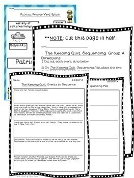 The Keeping Quilt-Differentiated Sequencing-Theme-Characters-Setting