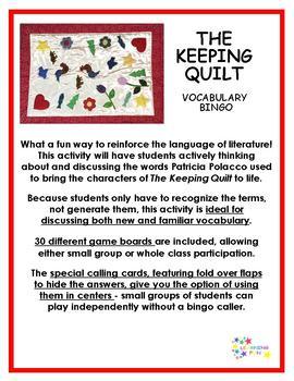 The Keeping Quilt Vocabulary Bingo