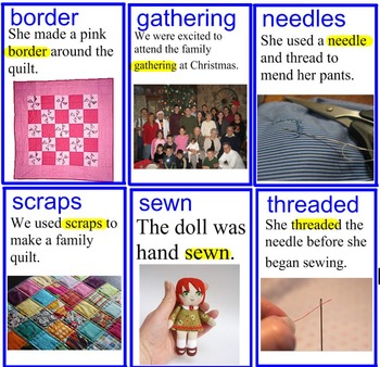 The Keeping Quilt Vocabulary Smart Board File