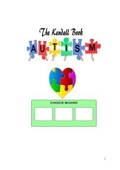 The Kendall Visual Choice Board Book