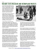 The Kent State Shootings Story and Worksheet Questions