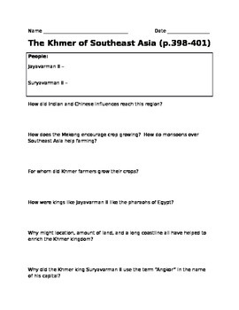 The Khmer of Southeast Asia