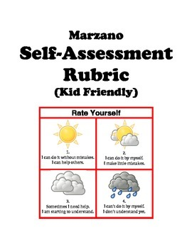The Kid-Friendly Self-Assessment Rubric