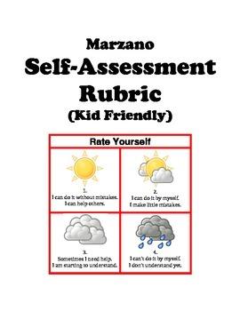 The Kid-Friendly Self-Assessment Rubric