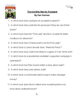 The Kid Who Ran For President by Dan Gutman, Battle of the Books Questions