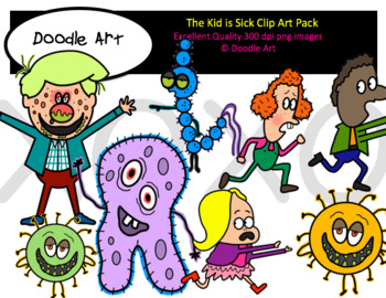 The Kid is Sick Clipart Pack