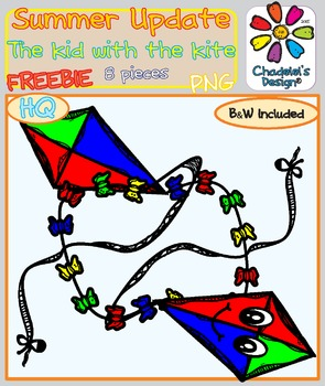 The Kid with the Kite FREEBIE Clips [Happy Summer Clips Updated]