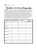 The Kids Cell Making Championship! (Candy Cell Model Lab)