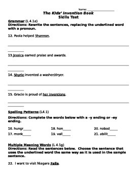 The Kid's Invention Book - Skills Assessment