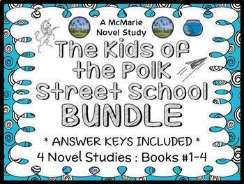 The Kids of the Polk Street School BUNDLE (Patricia Reilly Giff) 4 Novel Studies