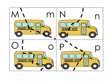 The Kids on the Bus Pocket Chart Games for Kindergarten CCSS
