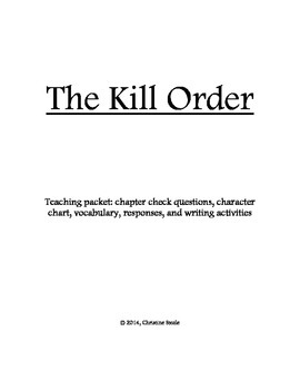 The Kill Order teaching packet