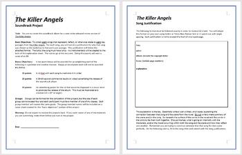 The Killer Angels - Soundtrack Project