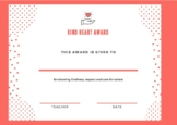 The Kind Heart Award