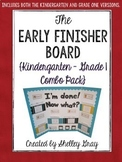 The {Kindergarten and First Grade} Early Finisher Board™ C