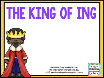 The King Of ING!  An -ING Mini Pack Creation!