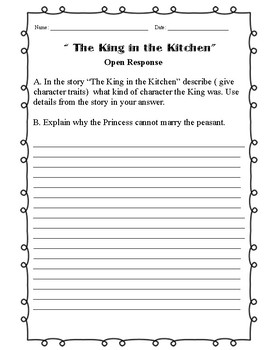 The King in the KItchen - Open Response Question