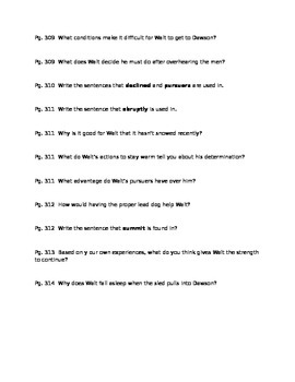 The King of Mazy May Guided Reading Questions