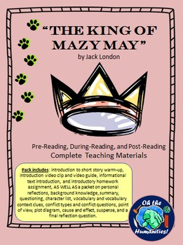The King of Mazy May by J. London Pre-, During-, & Post- Materials