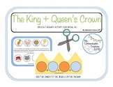 {The King + Queen's Crown} Cut + Paste Activity For Initial /K/