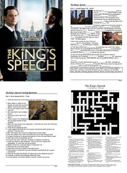 The King's Speech - Active Learning Tasks Bundle