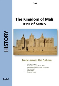 The Kingdom of Mali - trade across the Sahara