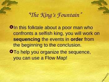 The King's Fountain - Sequencing - Open Court Reading