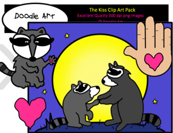 The Kiss Clipart Pack