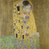 The Kiss by Gustav Klimt Collaborative Mixed Media Art Piece