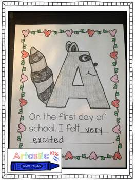 The Kissing Hand (A First Day Writing Activity with Chester)
